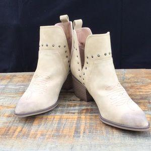 Tan Cowboy Booties